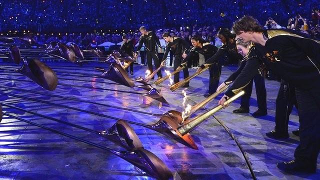 Lighting of London Olympics Games 2012