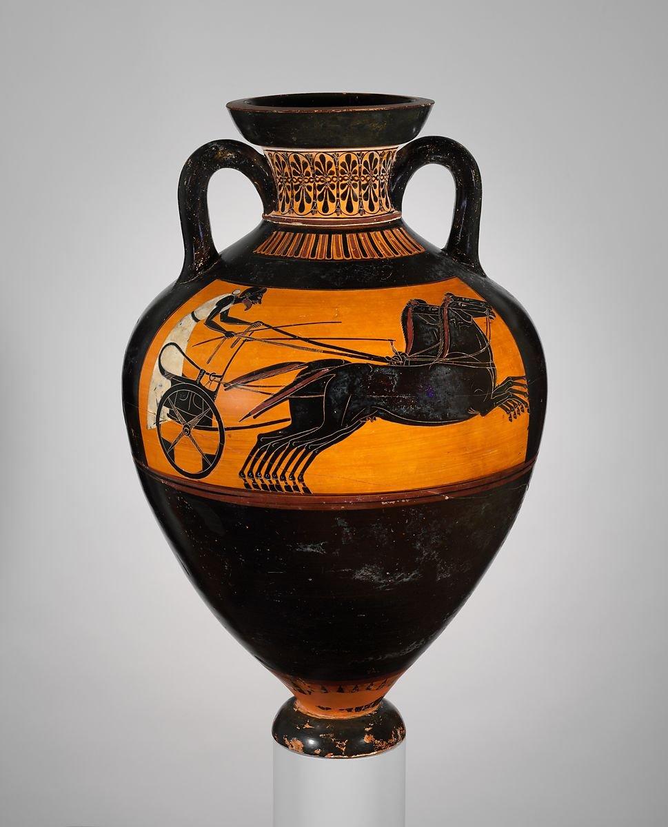 Terracotta Panathenaic prize amphora 520 BC