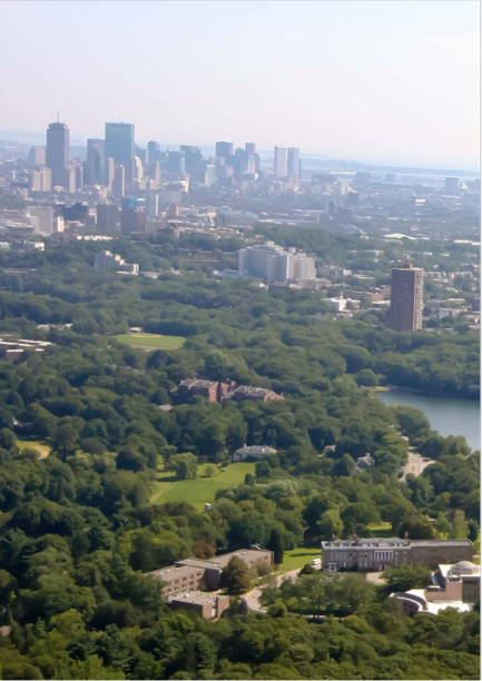HCHC Aerial with downtown Boston